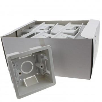 Dry Lining Plasterboard Back Box Pattress Box 1 Gang 35mm [10 Pack]