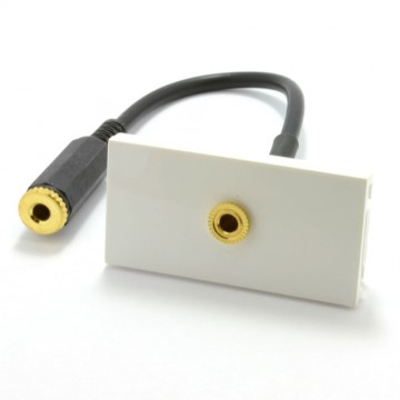 Ready Made Faceplate Module 3.5mm Stereo Jack Panel Mount Stub...