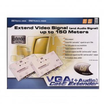 Rextron VGA/SVGA Cat5/LAN Powered Extender/Splitter with Audio