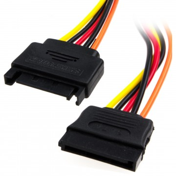 SATA Power Extension Cable for Internal Sata Hard Drives 25cm