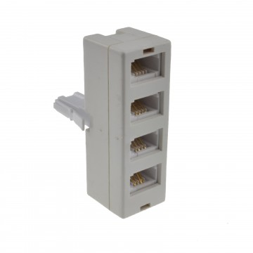 BT Telephone Splitter 4 Way Sockets 1 x Socket to 4 BT Phone Lines 431A