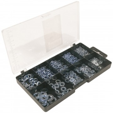 Washers - Locking/Lock and Spring 3mm/4mm/5mm/6mm/8mm [500 Piece Set]
