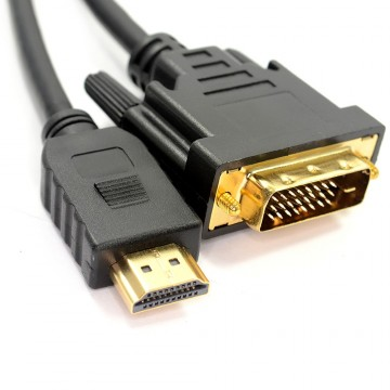 DVI-D 24+1pin Male to HDMI Digital Video Cable Lead GOLD  1.5m