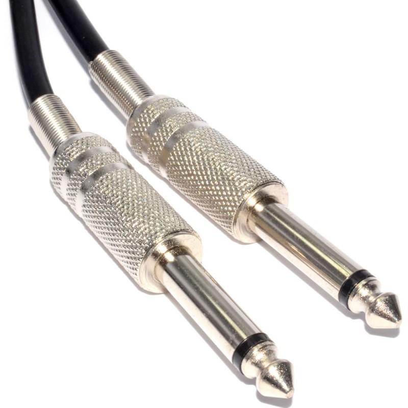 Flexible Speaker Cable 6.35mm Jack Plug To 6.35mm Jack Plug 0.75mm2 6m