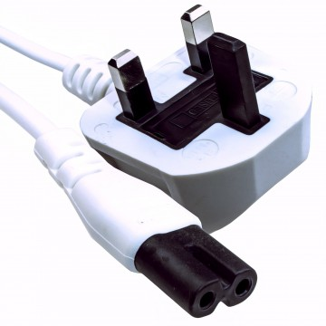 Figure 8 Power Cable UK Plug to C7 Lead for LED or Smart TV...