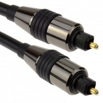 PRO Chrome TOS Link TOSLink Optical Digital Audio Cable 6mm...