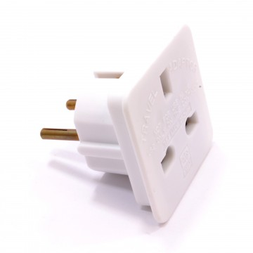 Travel Adapter UK Main Plug To Euro Schuko Plug Changer Europe
