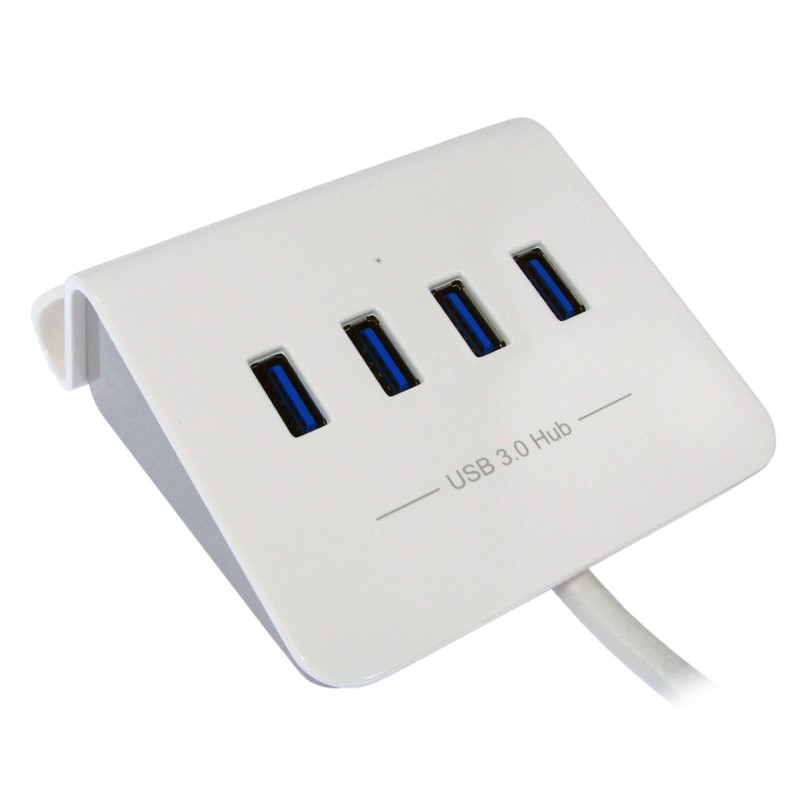 4 Port USB 3 SuperSpeed Rapid Charging Dock Supports On The Go WHITE