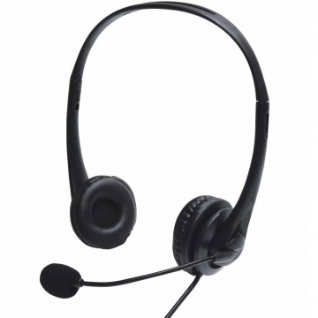 USB Multimedia Headset with Microphone for PC Laptop Zoom Meeting 1.8m Cable