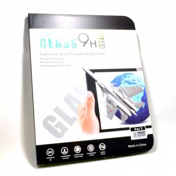 Crystal Clear Tempered Glass Screen Protector .42mm 9H for iPad 3