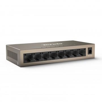 Tenda 8 Port Performance GIGABIT Internet Network Switch RJ45 Ethernet Cables
