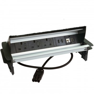 Flip Up Meeting Desk Power Extension 3 x UK Power Sockets 2 x USB/RJ45/HDMI