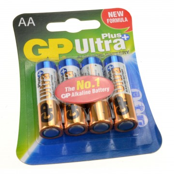 GP AA 1.5V ULTRA PLUS High Performance Alkaline Battery [4 Pack]
