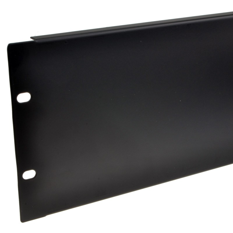 Blanking Plate Solid 3U for Comms Data Cabinet Rack 19 inch Black