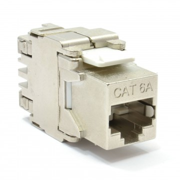 ToolLess Cat6A FTP Shielded Keystone Jack Connector for Load...