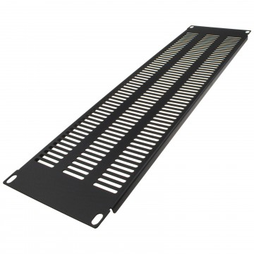 Blanking Plate Extra Vented 3U for Comms Data Cabinet Rack 19 inch Black