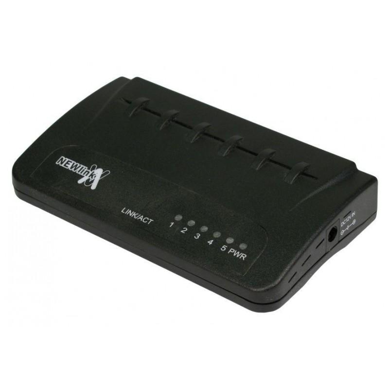 Newlink Network 10/100 Desktop Switch (Hub) 5 Port with UK PSU