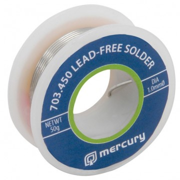Mercury High Quality Lead Free Solder 50g Roll 1.00mm