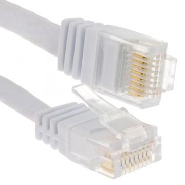 FLAT CAT6 Ethernet LAN Patch Cable Low Profile GIGABIT RJ45...