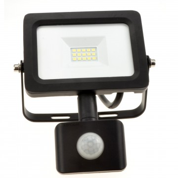 Outdoor Security LED Floodlight 10W with PIR Day/Night/Motion...