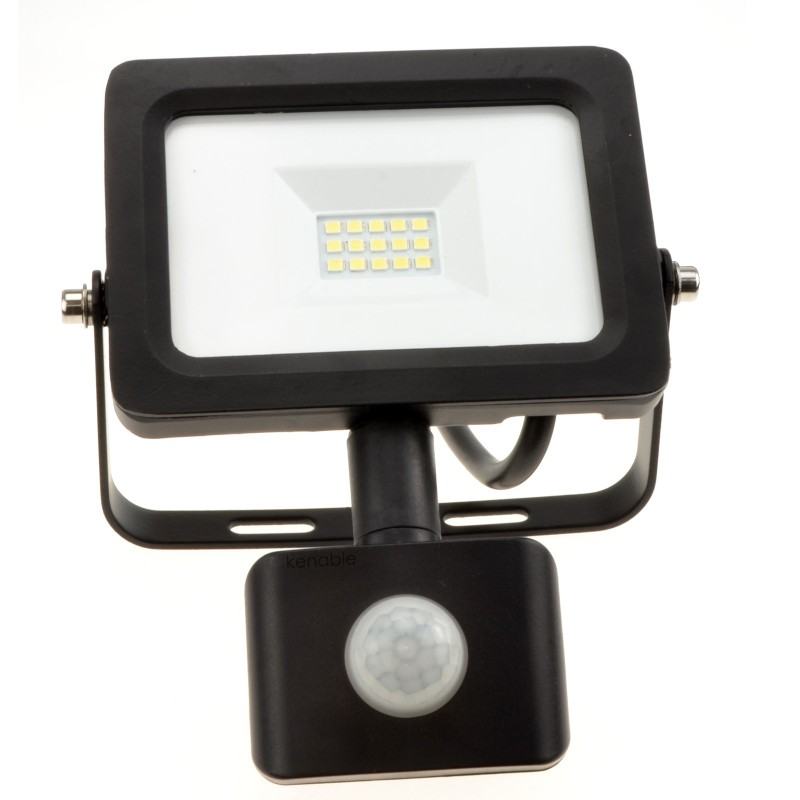 Outdoor Security LED Floodlight 10W with PIR Day/Night/Motion Sensor