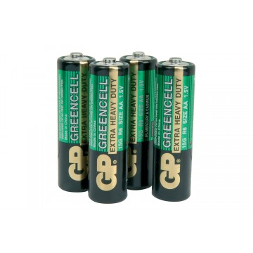 GP Greencell Heavy Duty Zinc Chloride Low Drain AA LR06 Battery [4 Pack]