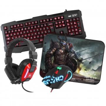 Nemesis Kane Pro Edition USB Gaming Mouse & Mat Keyboard &...