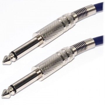 Pulse 6.35mm Low Noise Guitar Cable Nickel Connectors NAVY BLUE  5m
