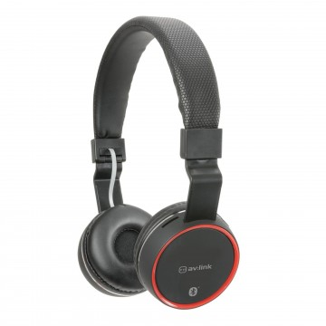 Wireless Bluetooth Noise Cancelling Rechargeable Headphones & Mic Black