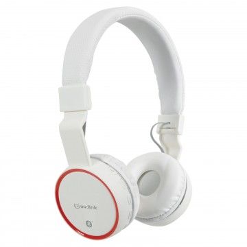 Wireless Bluetooth Noise Cancelling Rechargeable Headphones & Mic White