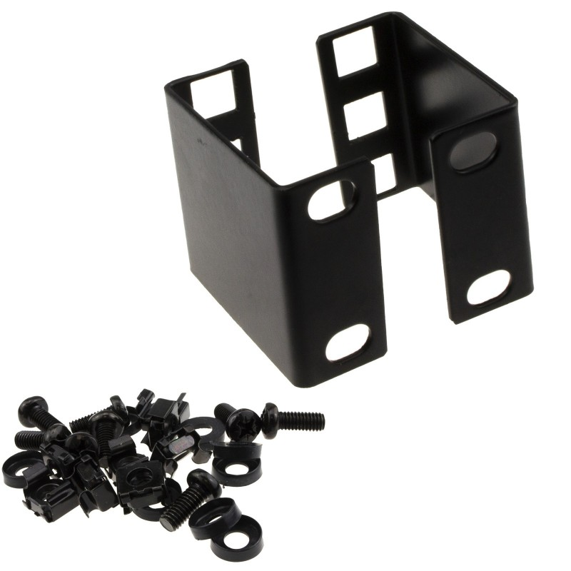 1U Rack Mount Data Cabinet Recessing Bracket with Cage Nuts 50mm Deep
