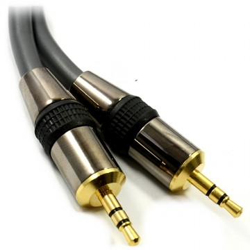 HQ Highly Flexible 3.5mm Male Plug to Plug Low Loss Cable 1.5m
