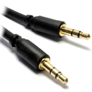 PRO 3.5mm Stereo Slimline Jack Low Profile Audio Cable Lead  1m