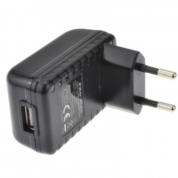 Euro Travel Mains Plug Charger to USB for Charging Devices...