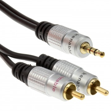 Pro Audio Metal 3.5mm Stereo Jack to 2 RCA Phono Plugs Cable...