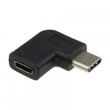 USB Micro B Socket to RIGHT ANGLED Type C Male Plug Converter Adapter