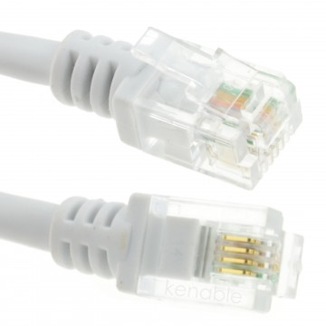 ADSL 2+ High Speed Broadband Modem Cable RJ11 to RJ11  0.5m WHITE