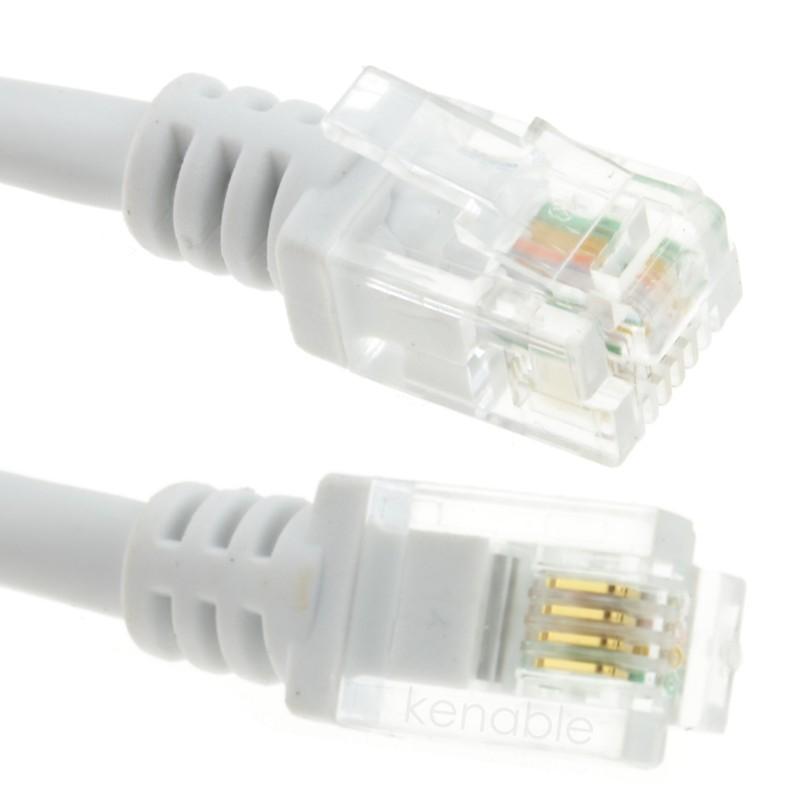 ADSL 2+ High Speed Broadband Modem Cable RJ11 to RJ11  0.5m WHITE