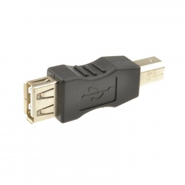 USB 2.0 A Socket to USB B Printer Male Plug Converter Adapter