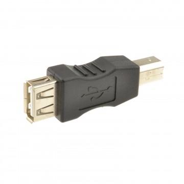 USB 2.0 A Socket to USB B Printer Male Plug Converter Adapter