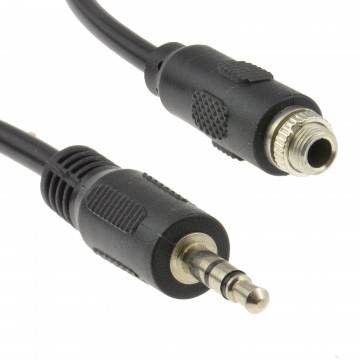 3.5mm Stereo Panel Mount Socket to 3.5mm Jack Plug Cable Lead...
