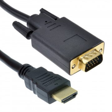 HDMI 19 Pin to SVGA 15 Pin PC or Laptop to Monitor TV Video...
