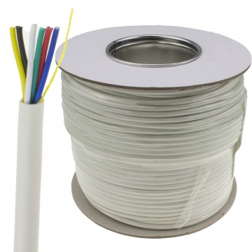 6 Core CCA Signal Cable for Alarm or Intercom Systems 100m White