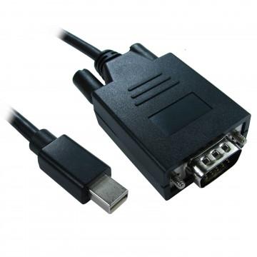 Mini Display Port Male Plug to 15 Pin SVGA Monitor PC Video Cable 1m