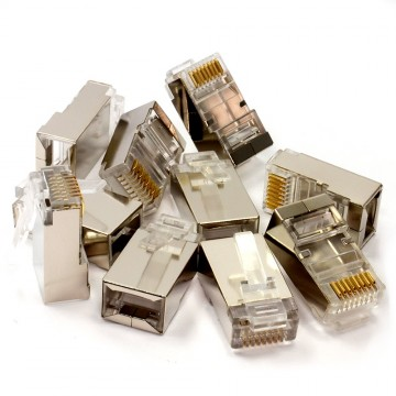 Shielded STP Cat6 RJ45 LAN Crimps Ends Connectors Bag of 10