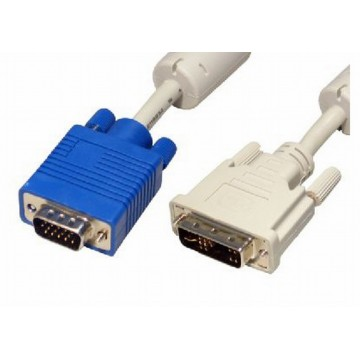SVGA 15pin Male to DVI-I 24+5pin Male - 2m