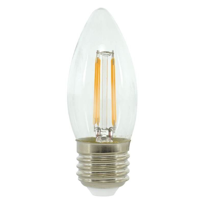 LED 4W Energy Saving Light Bulb E27 Candle Filament 2700k Warm WhiteUK