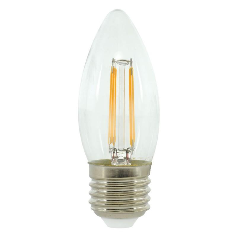 LED 4W Energy Saving Light Bulb E27 Candle Filament 2700k Warm WhiteUK