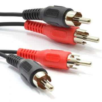 RCA Phono Lead Twin Plugs to Plugs Stereo Audio Cable Lead 15m
