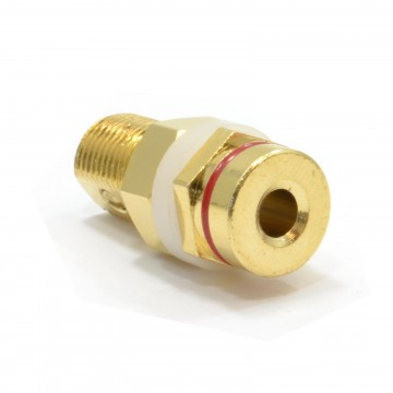 Panel Mount Banana Plug Speaker Audio Terminal Post Red 4mm GOLD